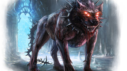 GARMR, guardian of the gates of HEILHEM