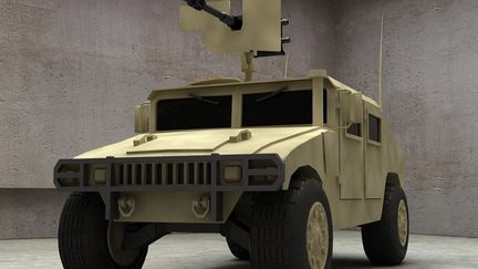 Hummer in Iraq (lowpoly model)
