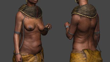 Tribal Woman Zbrush Sculpt & Texture