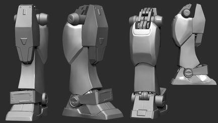 Gundam Leg Refinement