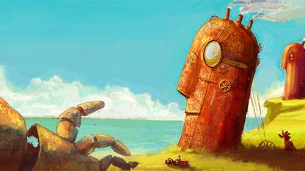 Steampunk Easter Island