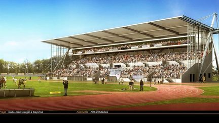 Rugby Stadium in bayonne, FRANCE