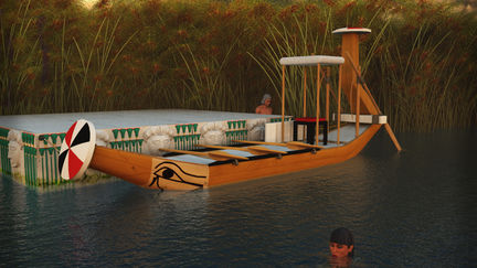 Ancient Egypt Leisure Boat