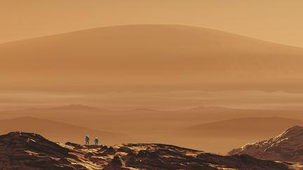 Explorers on Mars: Olympus Mons