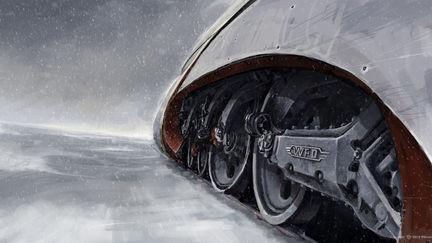 """Film """"Snowpiercer"""" Train Concept design"""