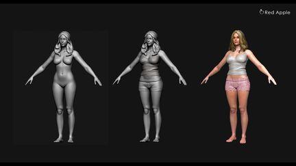 3D Female Digital Art