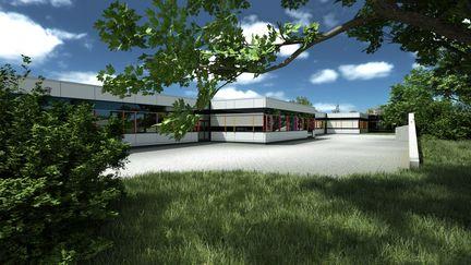 Architecural visualisation of a school building