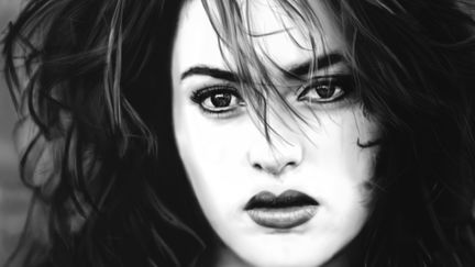 Kate Winslet painting