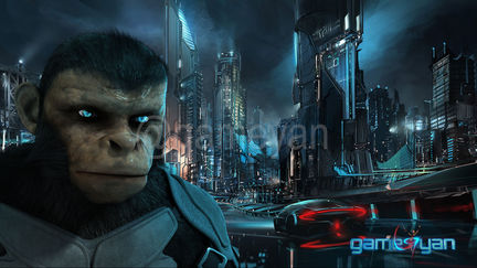 Cinematic 3D Character of Kung Fu Ape – sci-fi Cartoon feature film - California, USA