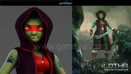 Lotha – Warrior Character Animation Model By GameYan 3d Production HUB