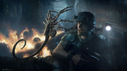 Aliens Colonial Marines Promotional Illustration