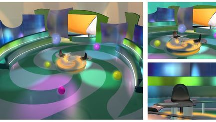 """Clueless"" tv gameshow - Lefta sta tyfla (in greek) 3d set design"