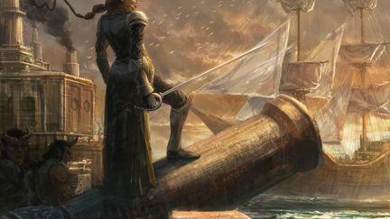 Tiefling Swordswoman