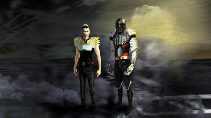 Commander and soldier (cyborg)