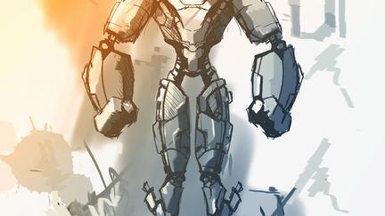 Cyborg Defender Concept Design