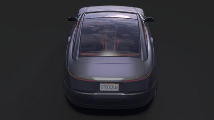 Tesla Model C Rear Top