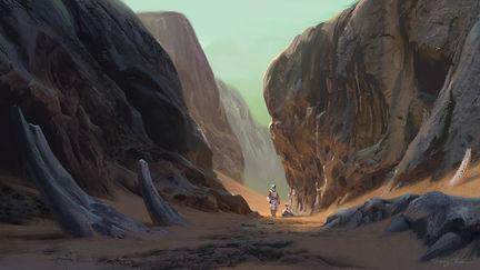 A crash landing on uncharted planet