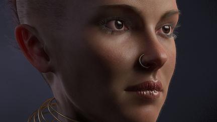 Portrait of a Punk girl