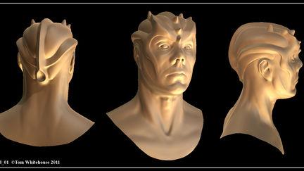 Alien Head Concept Sculpt