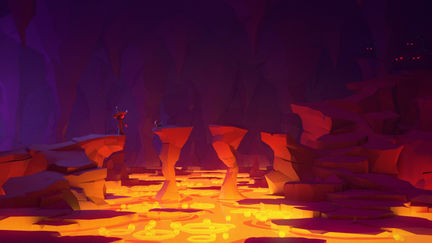Lowpoly - Lava cave