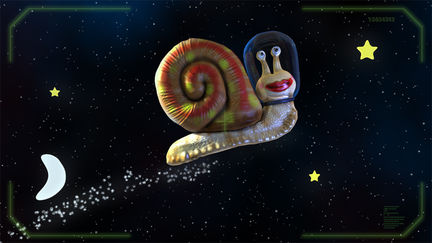 snail in space