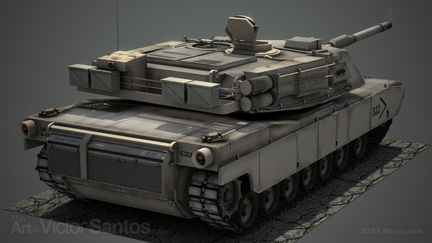 M1A1 Abrams tank - Back