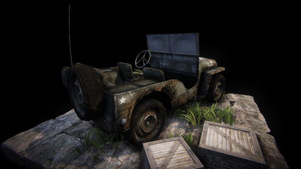 VideoGame Art - Willys jeep (Back)
