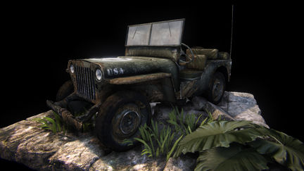 VideoGame Art - Willys jeep