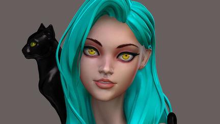 Amber eyed girl