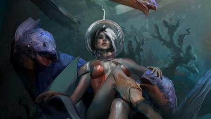 Eel Woman Concept Art