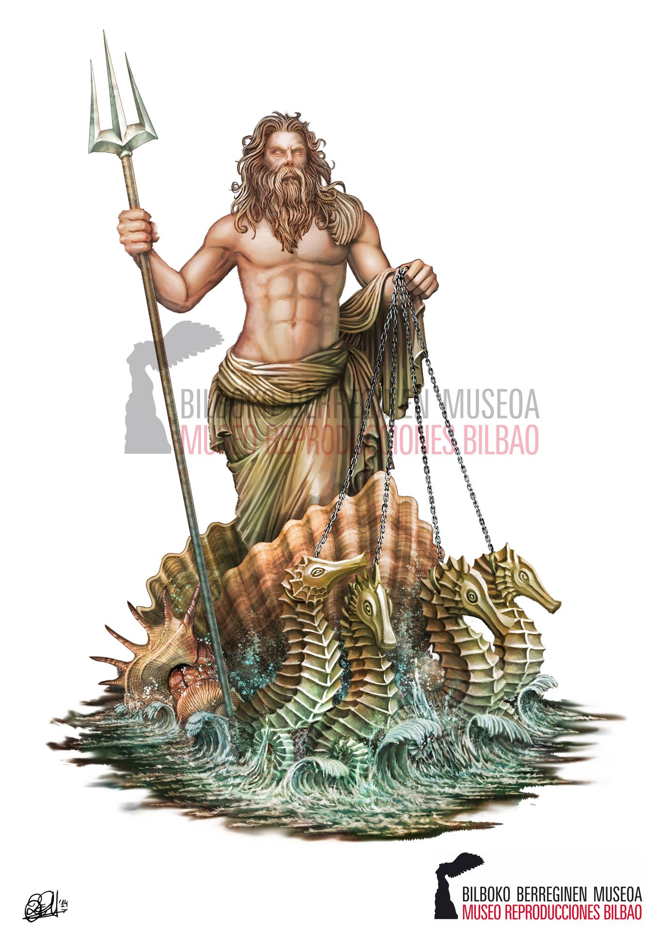 Poseidon God Of The Sea Ancient Greek Mythology By