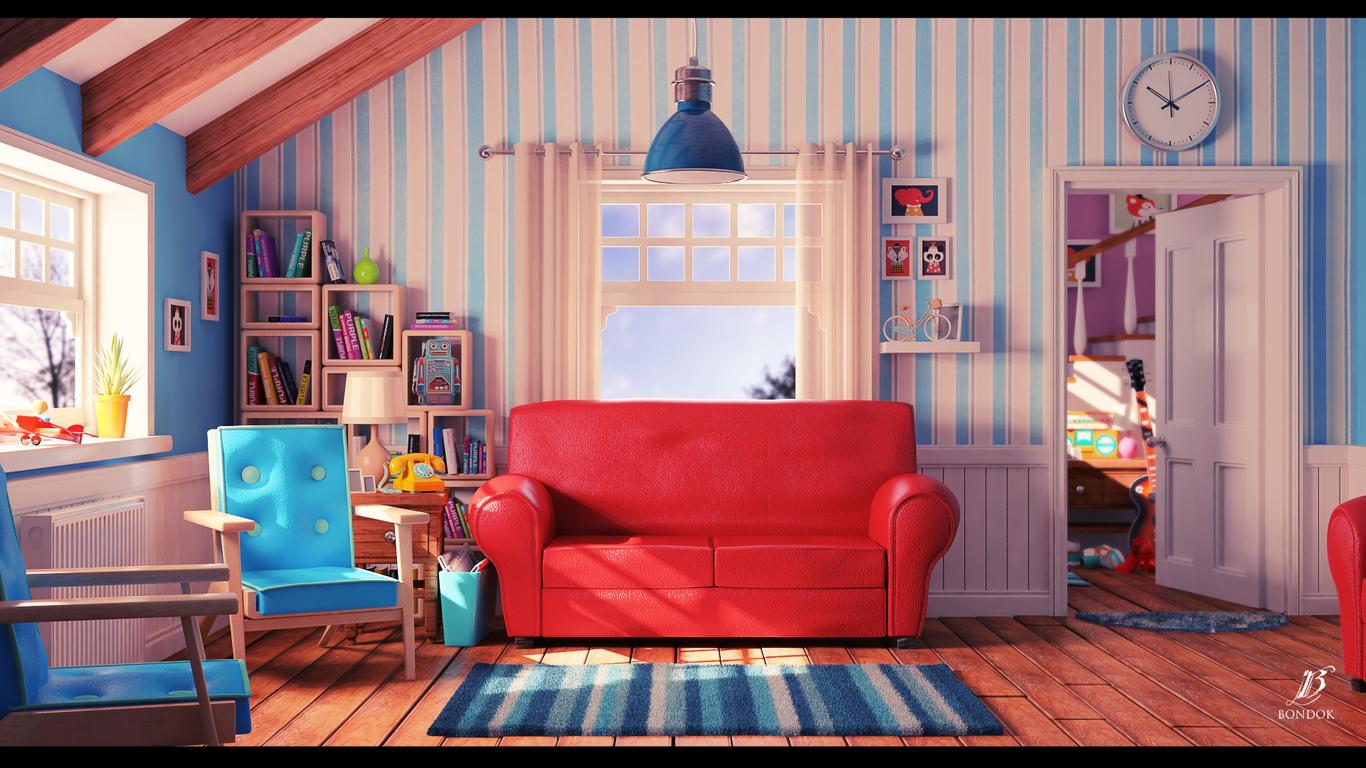Bondok cartoon living room 1 eafe304b 1uc3