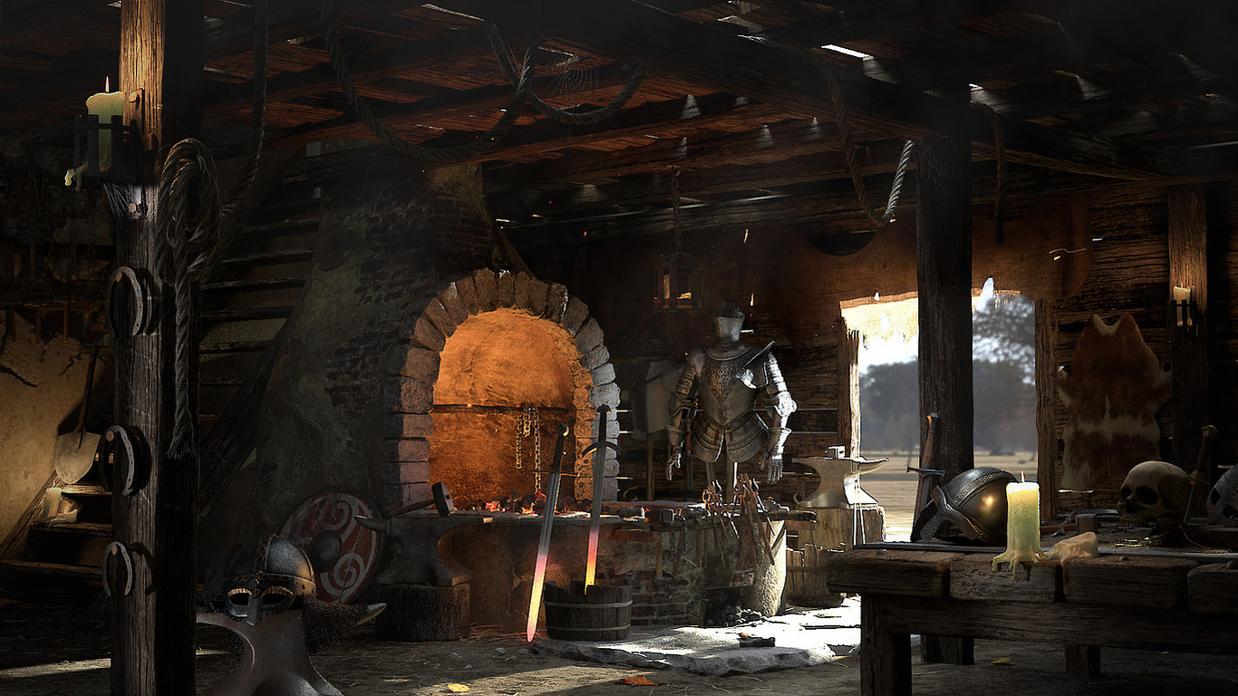 The Horse and Hammer Stud Farm & Forge - Forge interior - Credit to ChiaraGatti