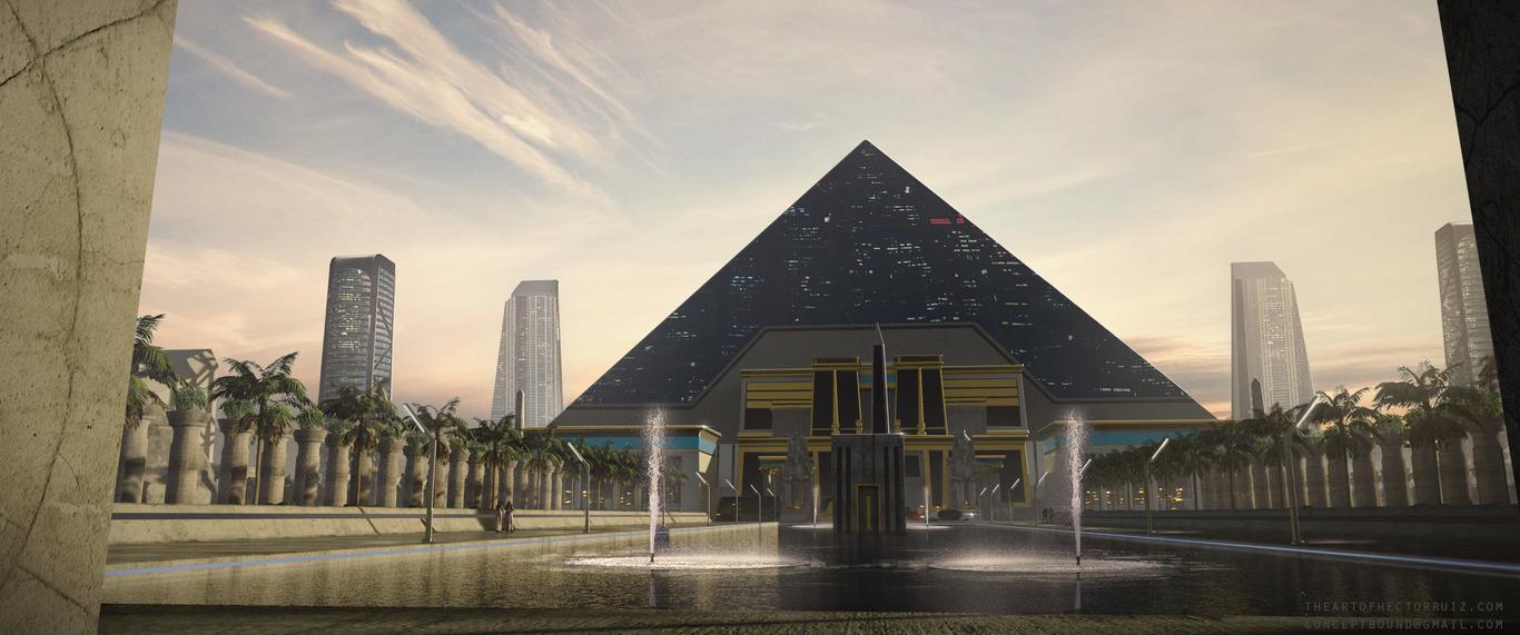 Futuristic Egyptian Building Conceptbound Environment