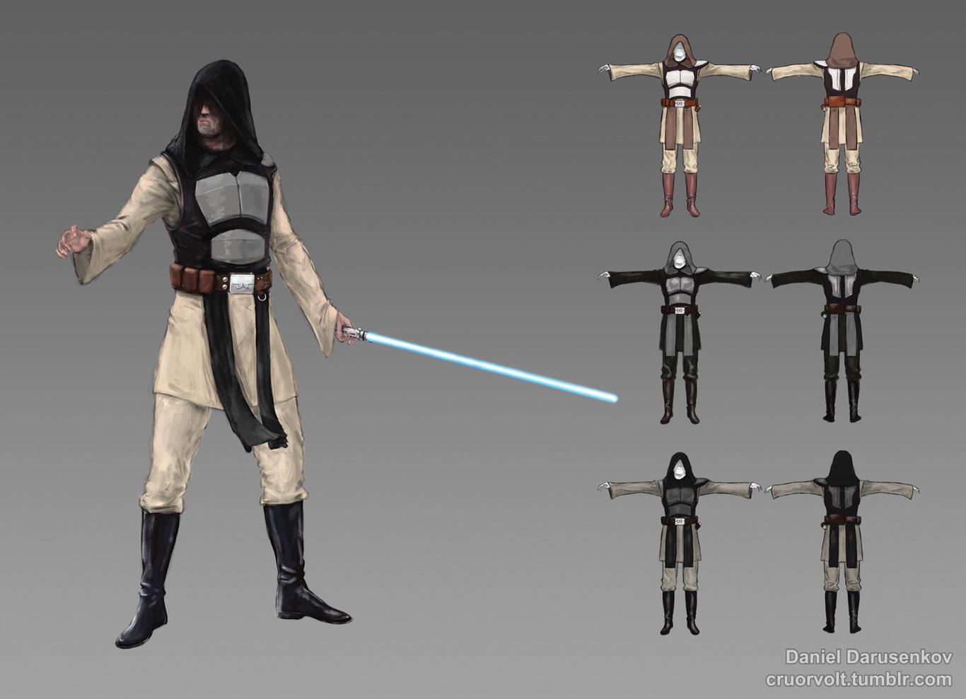 Jedi?Sith battle gear.