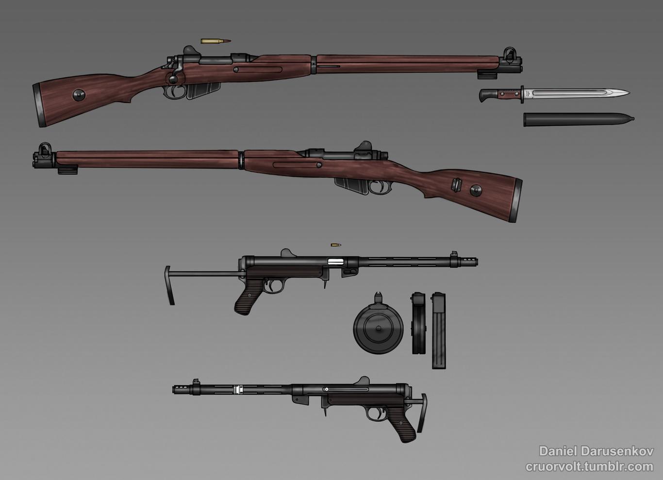 Some guns.