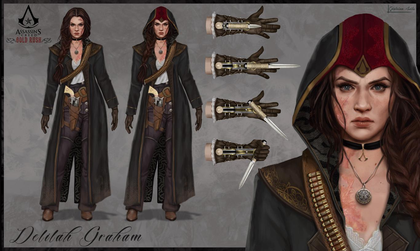 Assassins Creed Gold Rush Delilah Graham Fanart By Gislaineavila 1 Concept Art 2d Cgsociety