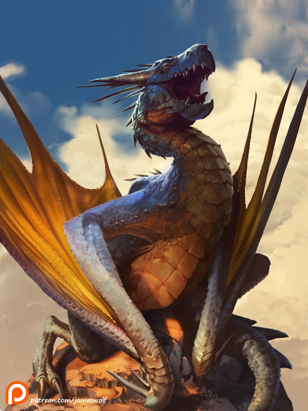 Jameswolf sunbathing dragon 1 1f3c1319 bq4d