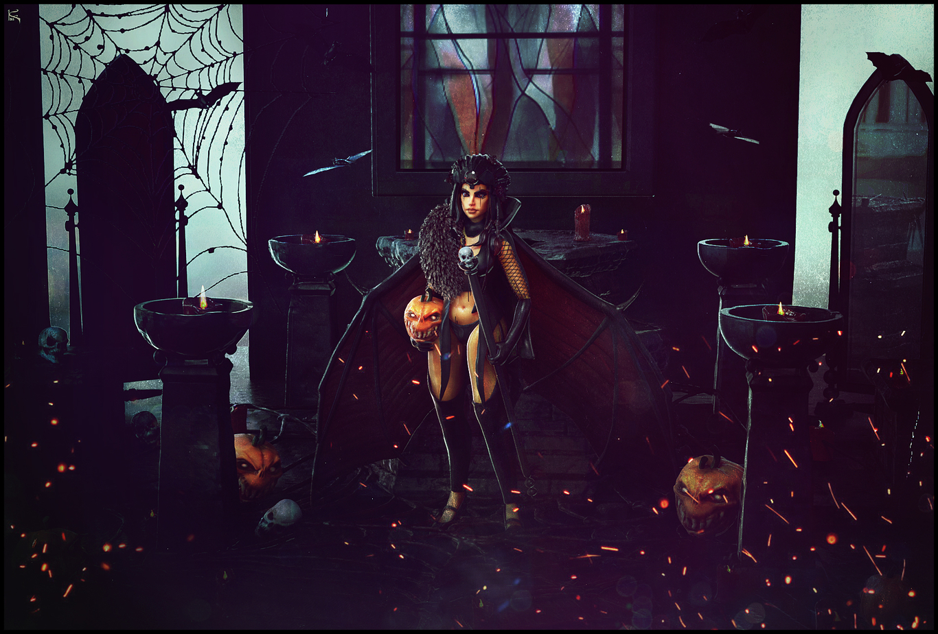 Halloween 2016 Stylized Bat Girl - Trick or Treat