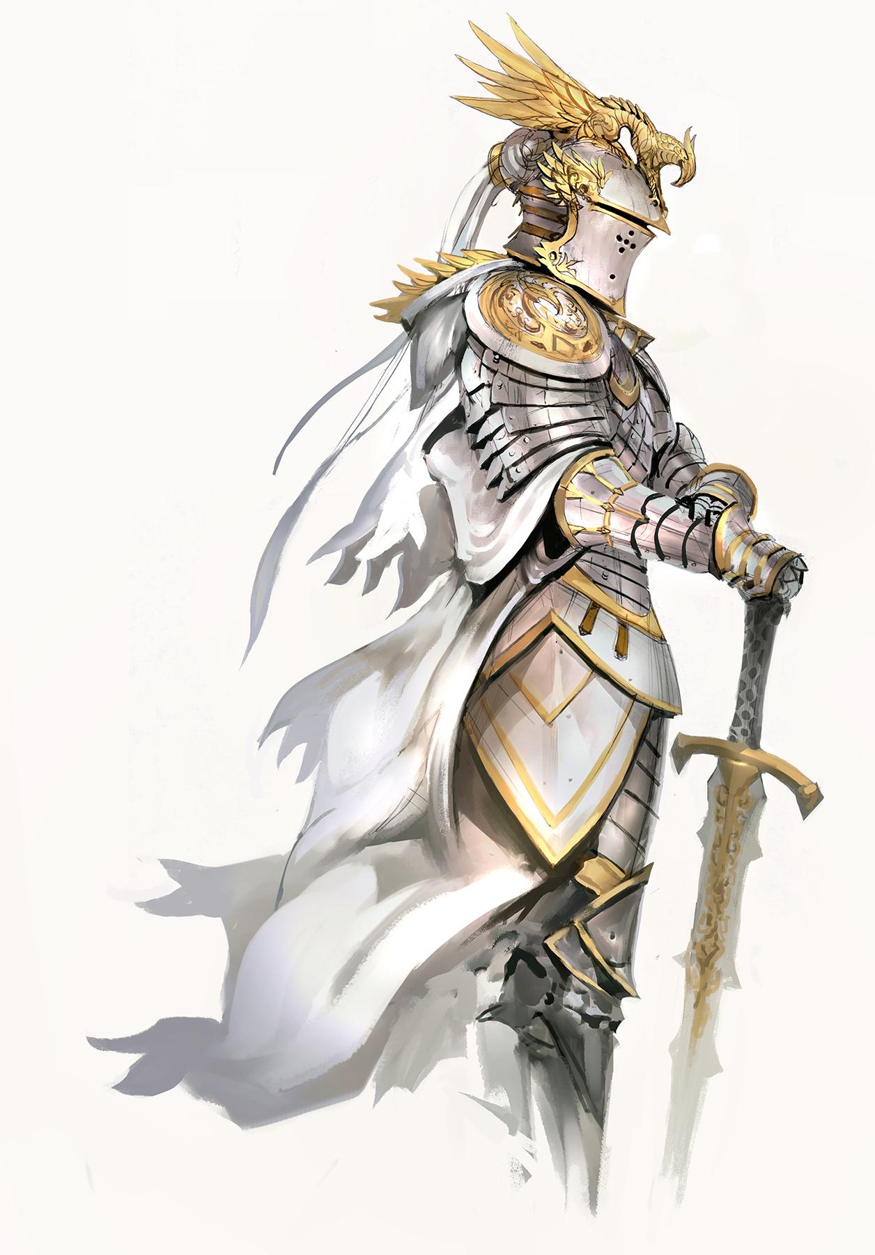 White Knight by kekaik | Fantasy | 2D | CGSociety