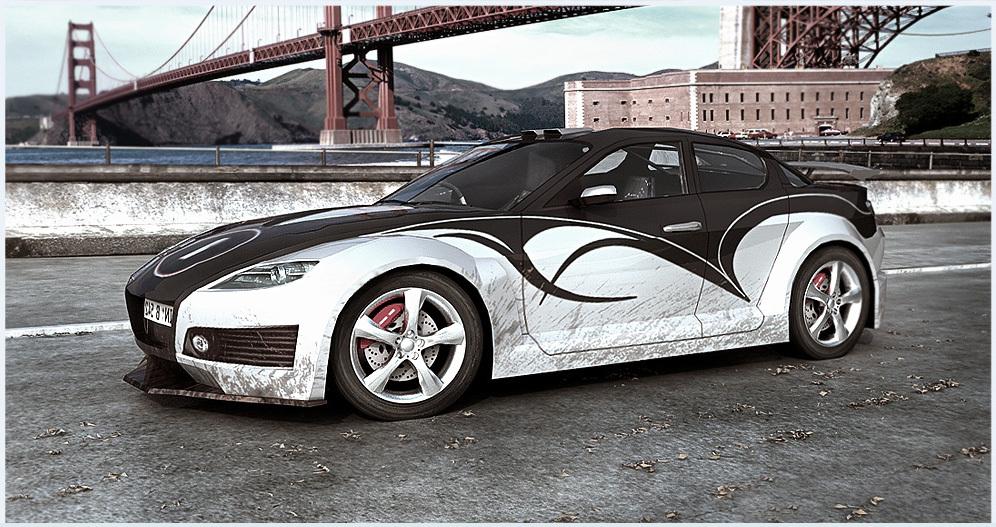 Mazda RX8 body kit by kvakin | 3D | CGSociety
