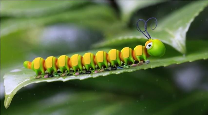 Днем, гусеница прикольная картинка