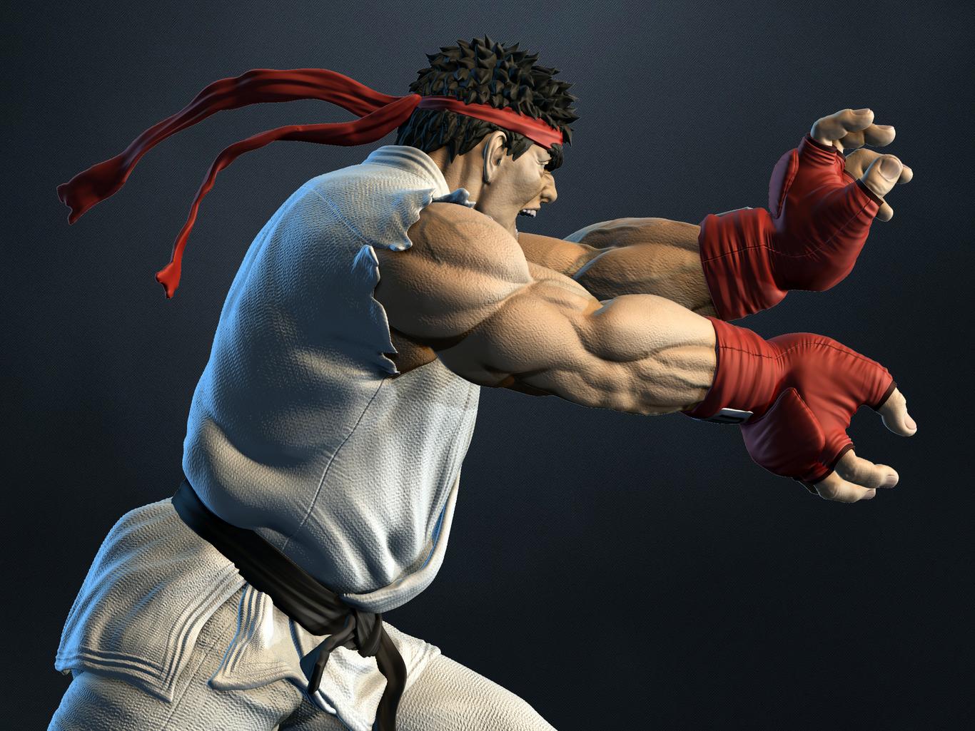 Fanart Ryu Street Fighter By Pana 3d Fan Art 3d Cgsociety