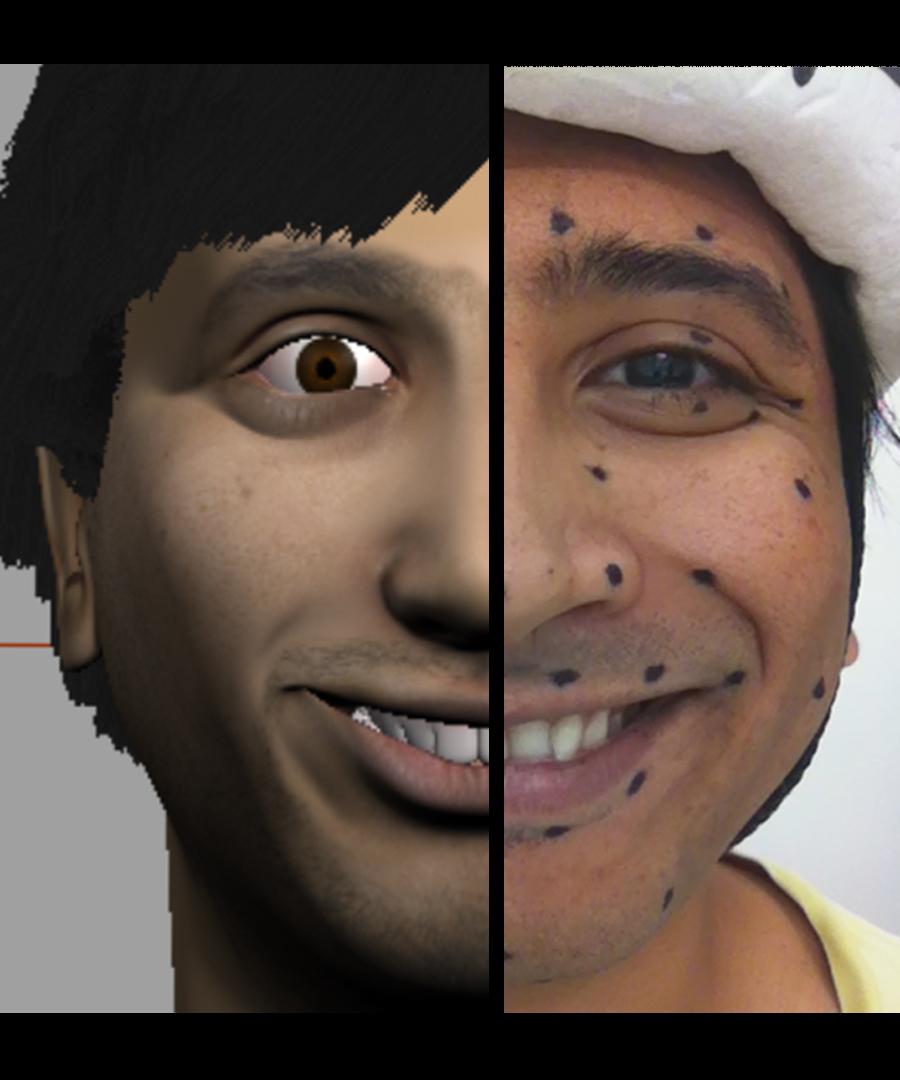 Facial Motion Capture ( Manual) by sagarlonkar | Animation | 3D