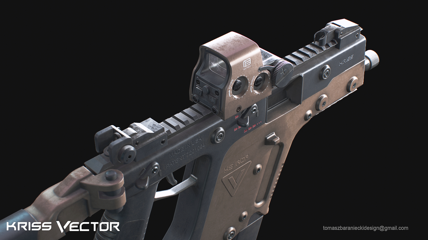 Kriss Vector By Tomaszbaraniecki Weapons 3d Cgsociety