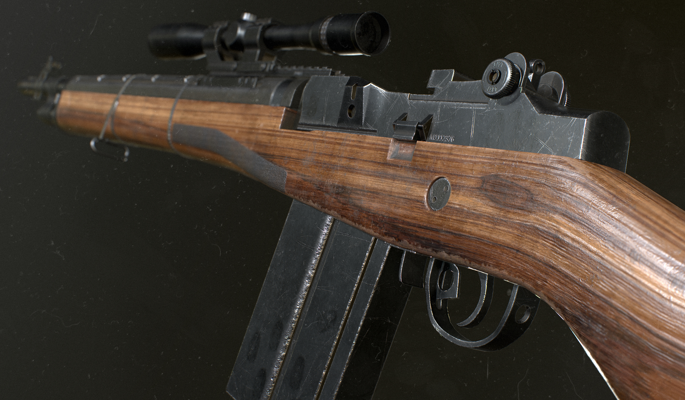 M14 / M1A RIFLE by TomaszCygan | Realistic | 3D | CGSociety