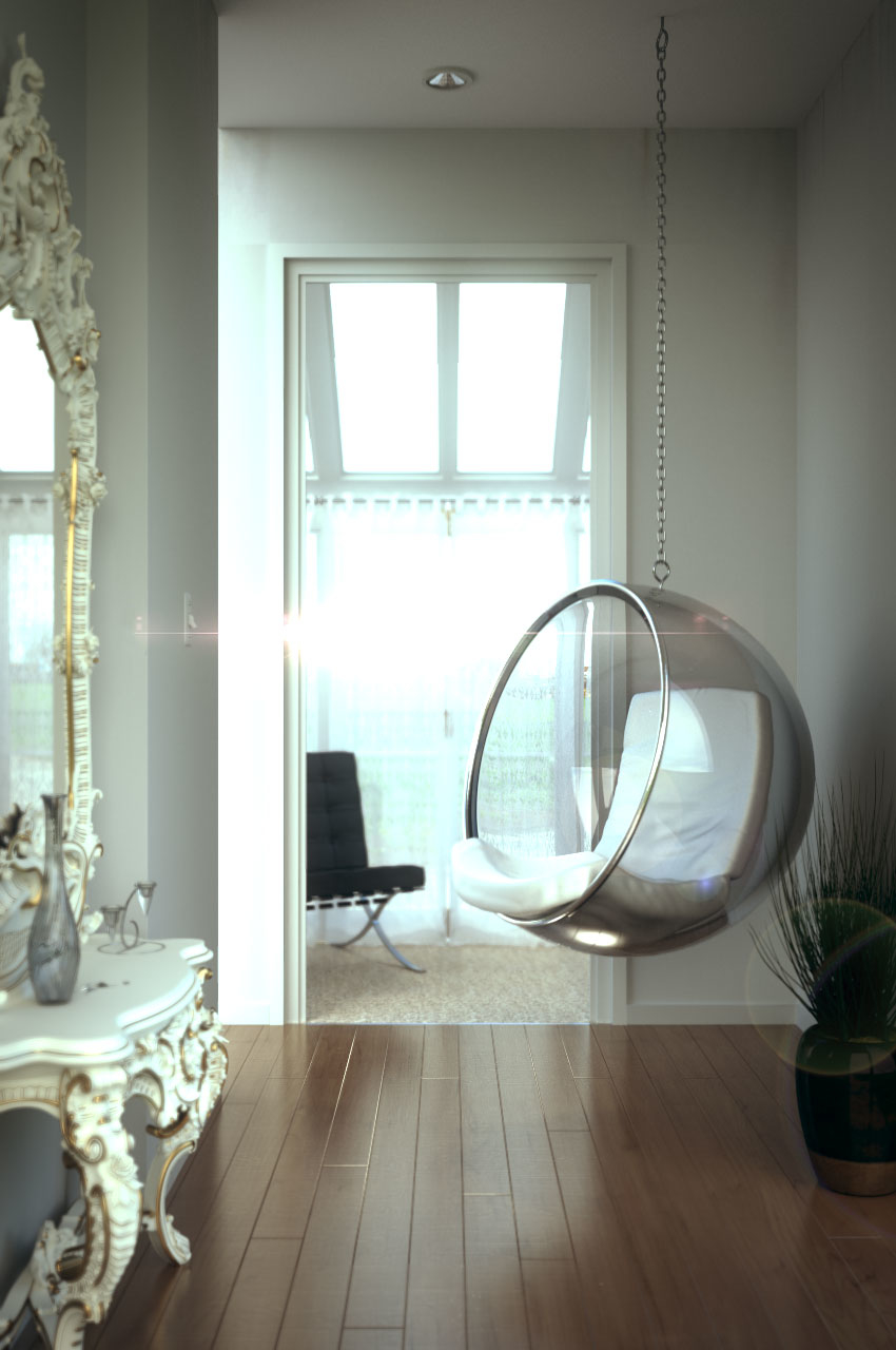 Suspended chair