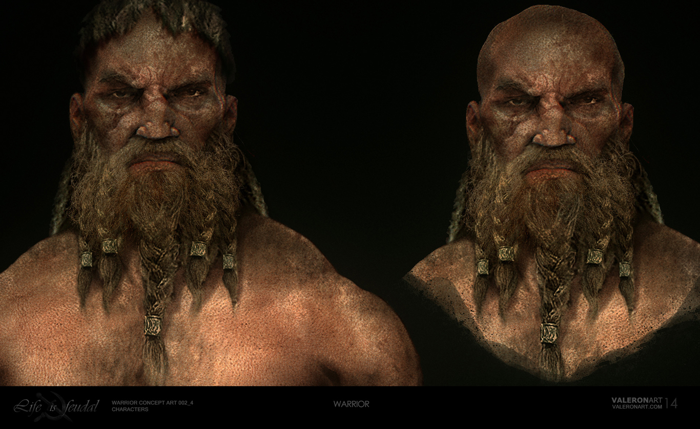 Life is feudal - Warrior face