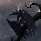 Moon and Crow