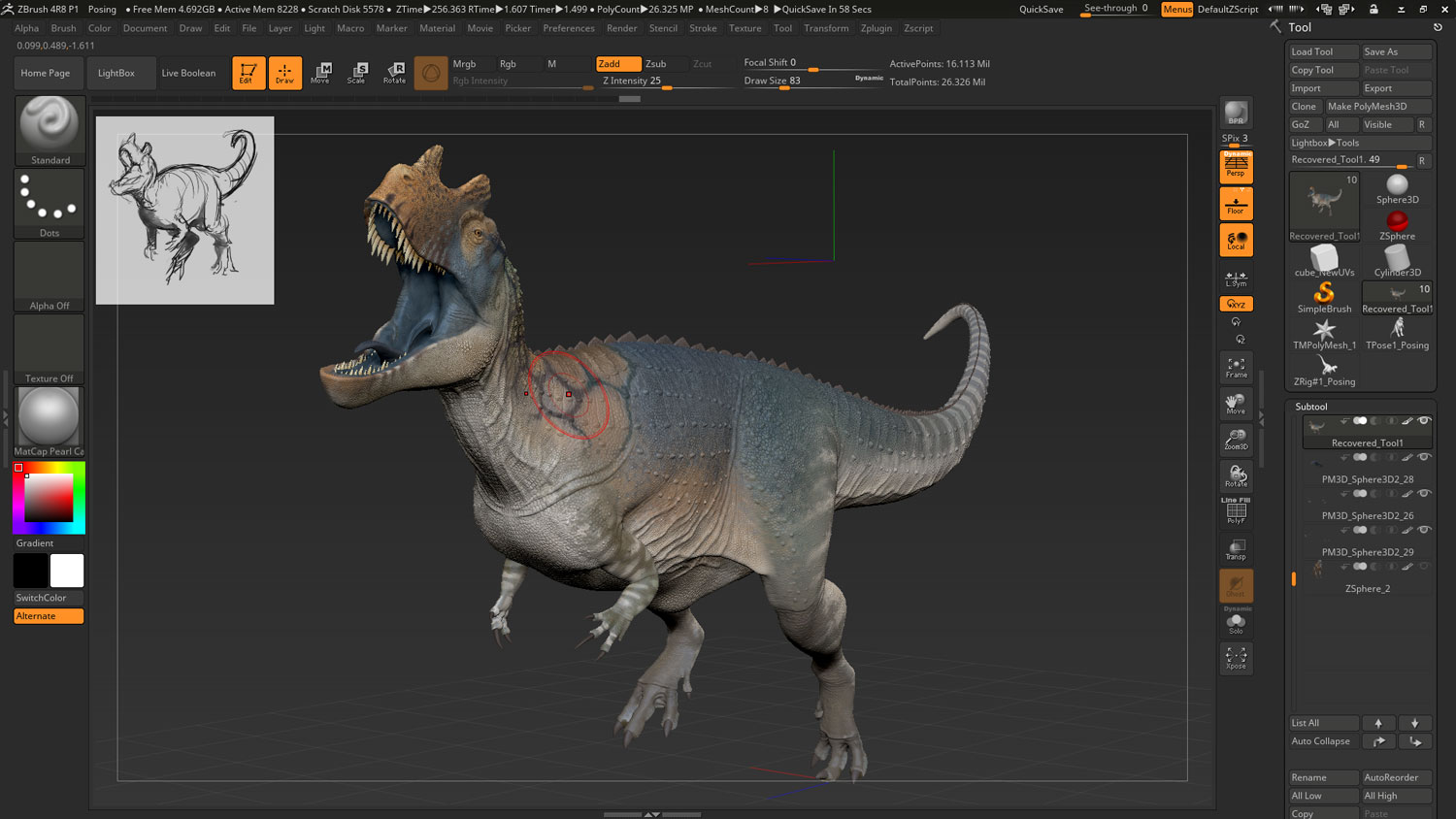 Sculpting the Perfect Digital Dino, With Raul Ramos - article